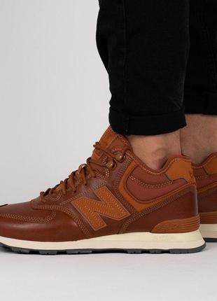 Оригинал new balance! мужские кожаные зимние/демисезонные боти...