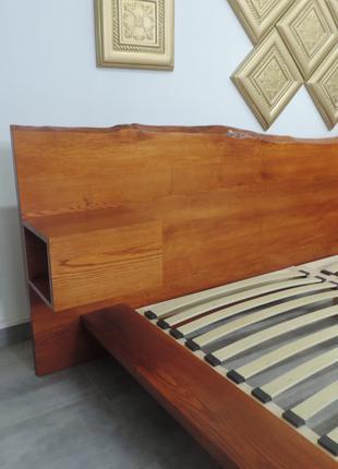 Кровать из слеба, Слеб. Двуспальная кровать, дубовая кровать