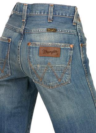 Джинсы Wrangler 29/34 прямые брюки рваные штаны бойфренды