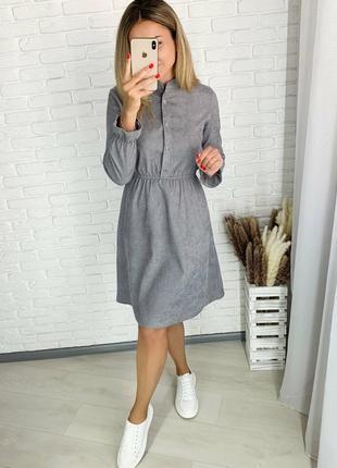 Платье вельвет 42-48р,4 цвета