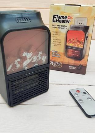 Портативный тепловентилятор дуйка обогреватель имитация камина с