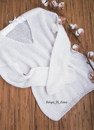 Шикарный свитер оверсайз из элитной пряжи