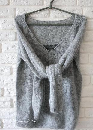 Крутой свитер с кружевом из итальянской пряжи