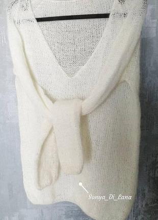 Шикарный свитер из пряжи класса люкс