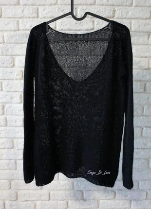Сексуальный свитер из натуральной пряжи