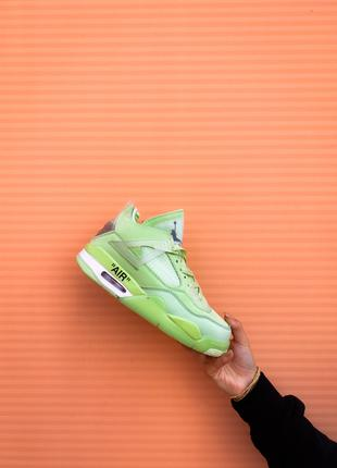 "Nike Air Jordan 4 Retro Off-White ""Neon Green"""