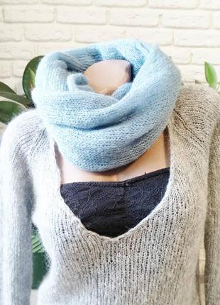 Снуд шарф из итальянской пряжи