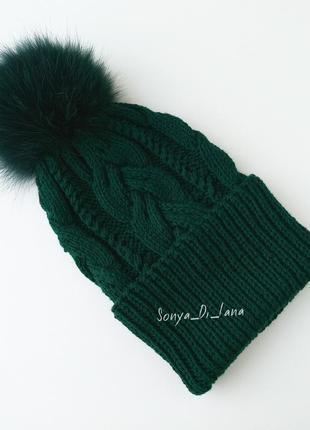 Шикарная шапка из мериносовой шерсти