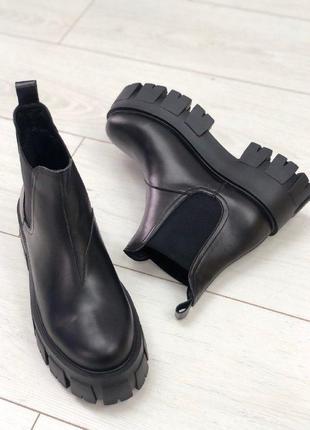 Женские ботинки челси на платформе