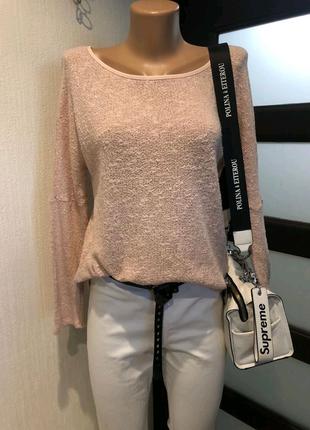 Стильный брэндовый нежный джемпер свитер кофта свитшот