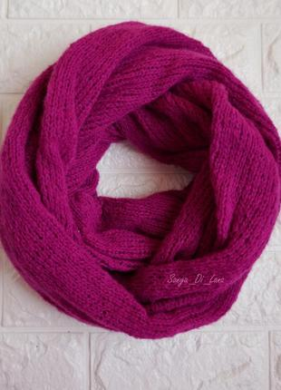 Шикарный шарф из итальянской пряжи премиум-класса. фуксия