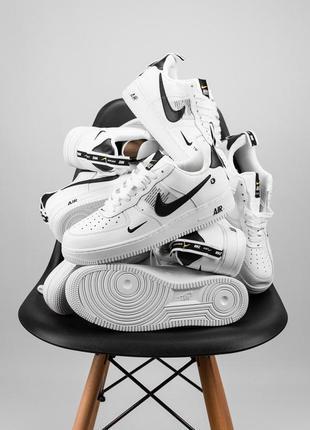 Nike air force 1'07lv8 ultra white шикарные женские кожаные кр...