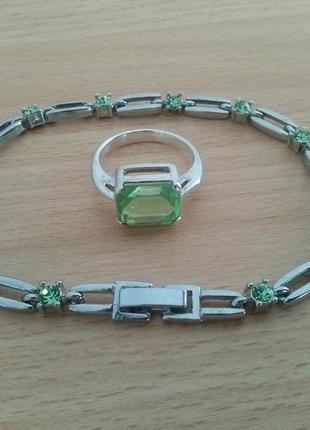 Комплект swarovski набор браслет кольцо сваровски swarovski
