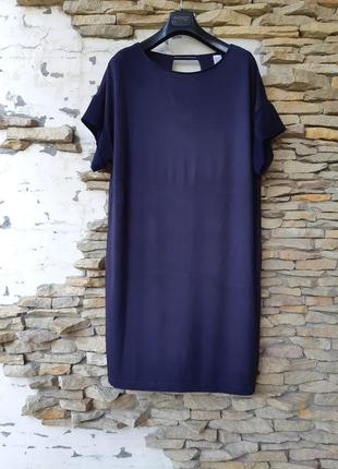 Стильное вискозное с красивыми рукавами платье большого размера