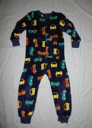 Слип пижама человечек плюшевый на 3-4 года 104 см