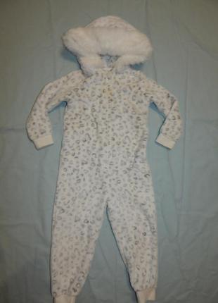 Слип пижама плюшевая человечек на 3-4 года 104 см