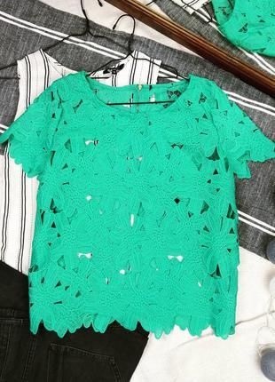 Блуза кофточка топ ажурной вязки