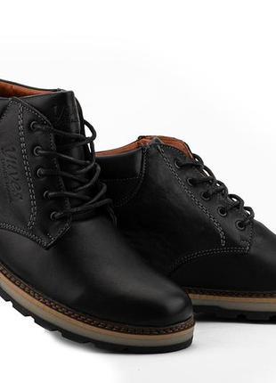 Мужские ботинки кожаные зимние