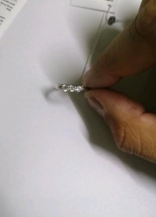Серебряный набор (кольцо, серёжки, кулон)
