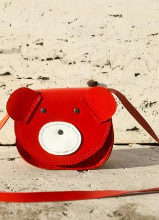 Сумка детская, для девочки ведмежонок (red)