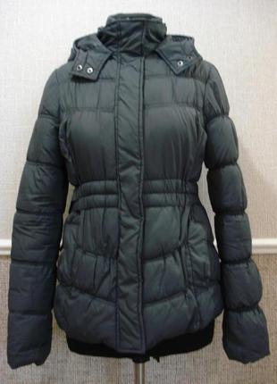 Молодежная демисезонная утепленная куртка с капюшоном