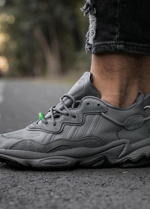 Кроссовки adidas ozweego «dark grey green