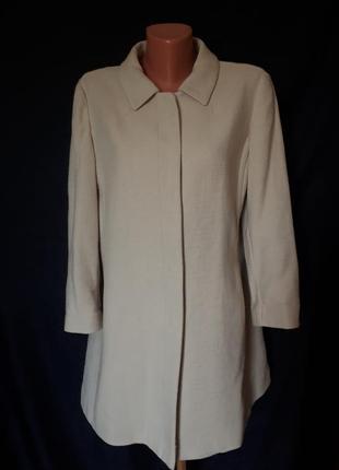Коттоновый легкий пальто- жакет с рукавом три четверти benetto...