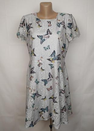Платье стильное кружевной в цветочный принт oasis l