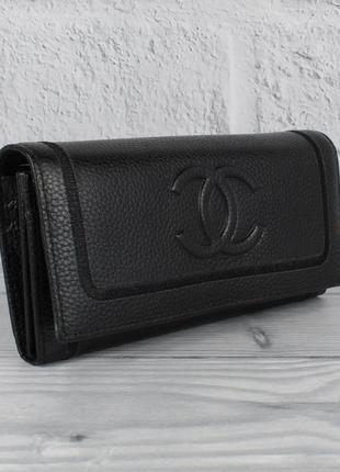Кошелек женский кожаный 9303 черный классический