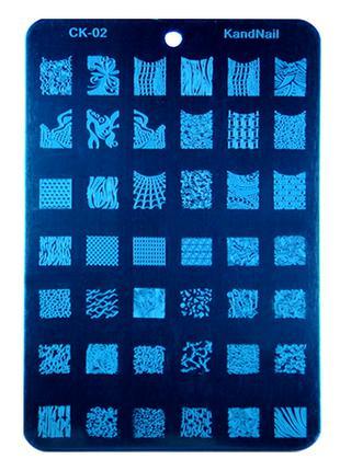 Плитка СК стемпинг стальная пластина маникюр дизайн ногтей