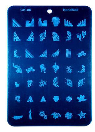 Плитка СК стемпинг пластины клише формы плитки узоры дизайн