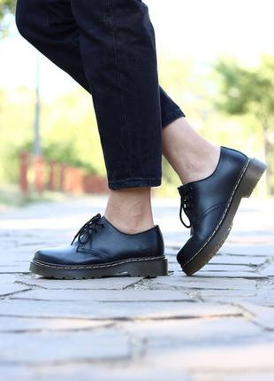 Туфли dr. martens smooth black boots туфлі