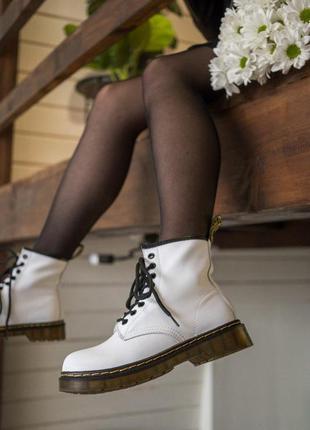 Ботинки dr. martens 1460 mono white🔥мартинсы, кожаные сапоги б...