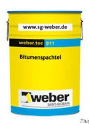 Weber.tec 911 Бітумна шпаклівка для локального ремонта, 14 кг