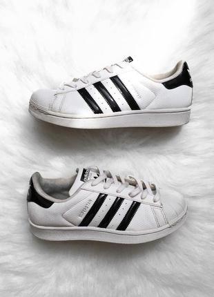 Белые кроссовки adidas superstar 38 адидас кеды суперстар трил...