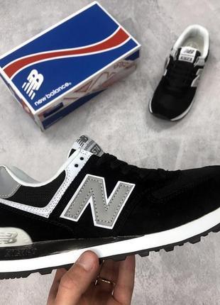 Женские кроссовки new balance 574 black