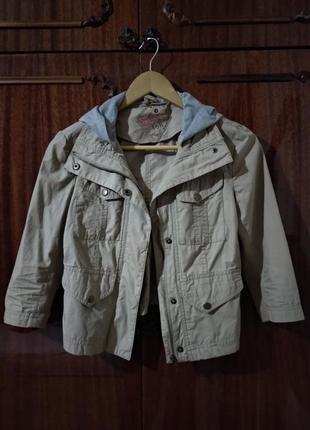 Хлопковая курточка с капюшоном new look