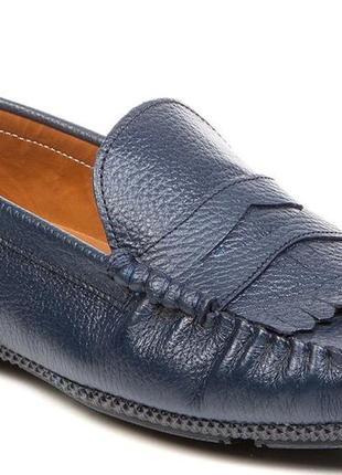 Мужские мокасины темно-синего цвета 42 р. deristudio - фирменн...
