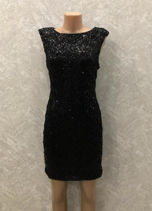 Вечернее платье в пайетки размер 6-8