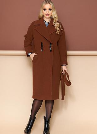 Пальто  (кашемир коричневый) шоколад