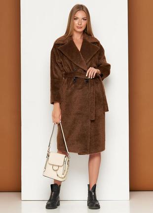 Пальто (шерсть длинноворсовая темно-рыжий)