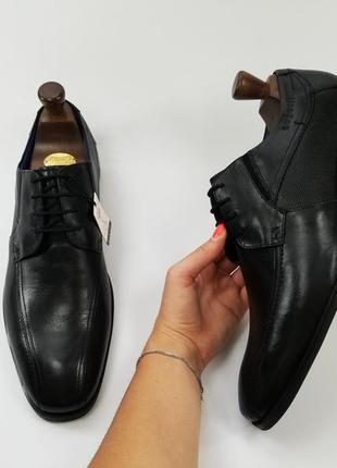 Bugatti made in germany мужские кожаные туфли черного цвета