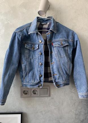 Винтажная джинсовая куртка джинсовка для мальчика для девочки