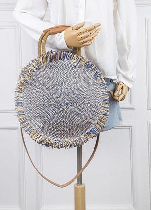 Стильная соломенная сумка бали сумочка из ротанга соломы плетё...