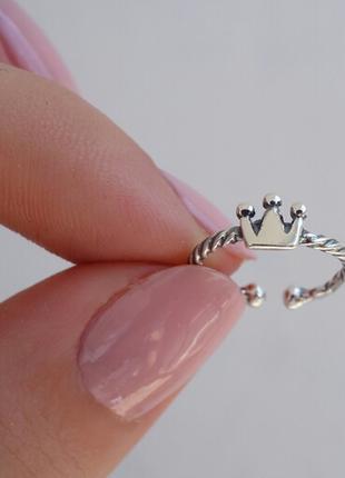 Кольцо с коронкой на переднюю фалангу пальца или мезинец