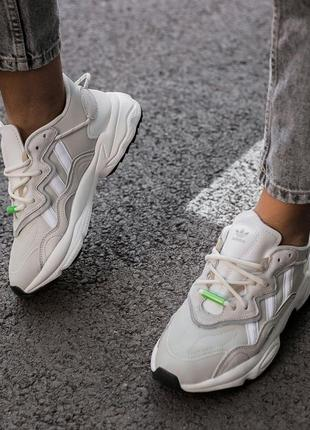 Кроссовки adidas ozweego sweet grey green