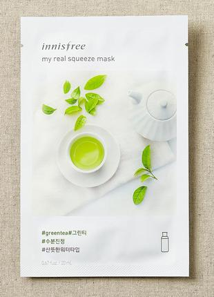 Маска-антиоксидант с экстрактом зеленого чая innisfree it´s re...