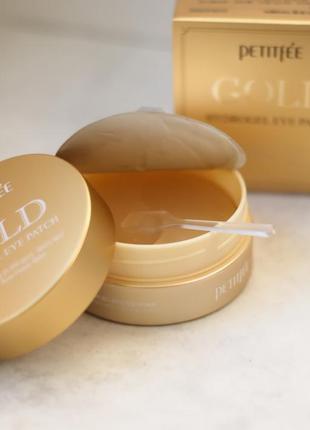 Гидрогелевые патчи с золотом petitfee gold hydrogel eye patch