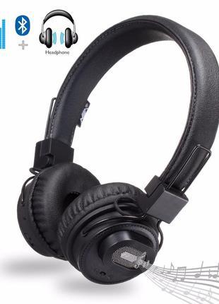 Bluetooth наушники-стерео колонка 2:1 NIA X5 с MP3 micro SD
