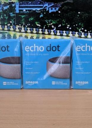 Умная беспроводная колонка Amazon Echo Dot 3rd gen (google hom...